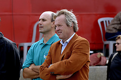 25-08-2006: VOLLEYBAL: NESTEA EUROPEAN CHAMPIONSHIP BEACHVOLLEYBALL: SCHEVENINGEN<br /> Joop Alberda en Michel Everaert<br /> ©2006-WWW.FOTOHOOGENDOORN.NL