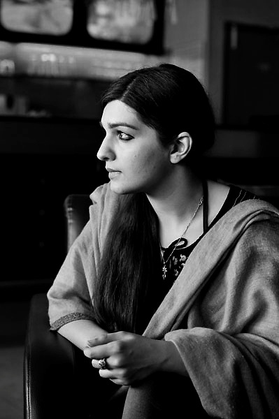 Mushaal Mullick a graduate from London School of Economics & belongs from an emminent Pakistani family has married to Jammu & Kashmir separitist supremo Yasin Malik. Mushaal is an avid painter & works for social causes for women & children in the Kashmir valley. Photo by Shome Basu