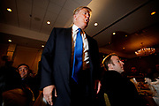 Nashua, New Hampshire, USA, 20110511:   Real Estater and TV Entertainer Donald J. Trump is flirting with the idea of running for President in the 2012 Election. Wednesday he made an important visit with the Nashua Chamber of Commerce in New Hampshire.<br /> Photo: Orjan F. Ellingvag/ Dagens Naringsliv