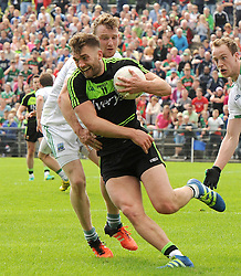 Mayo&rsquo;s Aidan O&rsquo;Shea in action at McHale Park on saturday last.<br /> Pic Conor McKeown