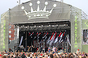 Suggs and the band and fans during the GrandSlam Madness tour at the BrightonandHoveJobs.com County Ground, Hove, United Kingdom on 28 June 2015. Photo by Phil Duncan.