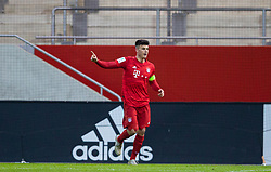 MUNICH, GERMANY - Wednesday, December 11, 2019: Bayern Munich's captain Flavius Daniliuc celebrates scoring the first goal during the final UEFA Youth League Group B match between FC Bayern München and Tottenham Hotspur at the FC Bayern Campus. (Pic by David Rawcliffe/Propaganda)