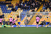 Northampton Town midfielder Ricky Holmes scores from the penalty spot to put the Cobblers 1-2 during the Sky Bet League 2 match between Mansfield Town and Northampton Town at the One Call Stadium, Mansfield, England on 28 March 2016. Photo by Jon Hobley.