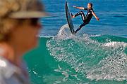 Laguna Beach, CA, Orange County, California, Hot Dog, Surfer, Catching Air