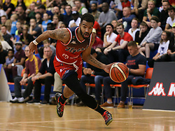 Lewis Champion of Bristol Flyers drives with the ball- Photo mandatory by-line: Arron Gent/JMP - 28/09/2019 - BASKETBALL - Crystal Palace National Sports Centre - London, England - London City Royals v Bristol Flyers - British Basketball League Cup