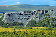 Dempster Highway and the Richardson Mountains<br /> Dempster Highway<br /> Northwest Territories<br /> Canada