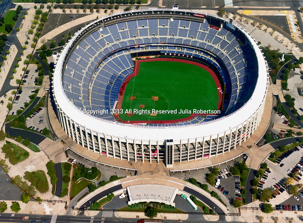 Aerial view of the Philadelphia Phillies Veterans Stadium