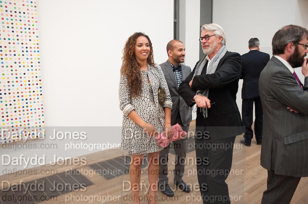 PRINCESS ALIA AL-SENUSSI; ABDULLAH AL-TURKI;;, Damien Hirst, Tate Modern: dinner. 2 April 2012.