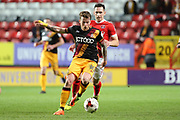 Bradford City striker Billy Clarke (10) passing the ball during the EFL Sky Bet League 1 match between Charlton Athletic and Bradford City at The Valley, London, England on 14 March 2017. Photo by Matthew Redman.