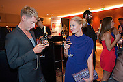 NICOLA STAPLETON; STEVE VYSE, London Lifestyle Awards. Riverbank Park Plaza. London.6 October 2011. <br /> <br />  , -DO NOT ARCHIVE-© Copyright Photograph by Dafydd Jones. 248 Clapham Rd. London SW9 0PZ. Tel 0207 820 0771. www.dafjones.com.