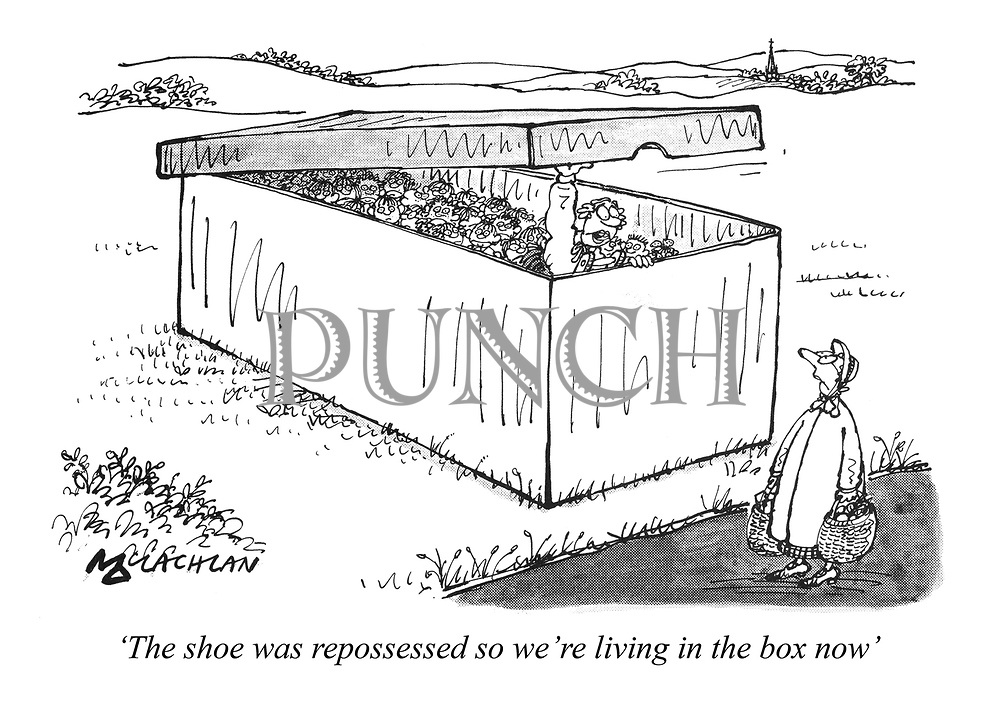 'The shoe was repossessed so we're living in the box now'