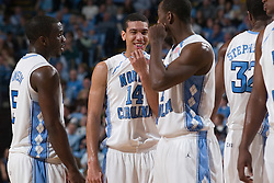 28 December 2006: North Carolina Tarheel forward (14) Danny Green and team during a 87-48 Rutgers Scarlet Knights loss to the North Carolina Tarheels, in the Dean Smith Center in Chapel Hill, NC.<br />