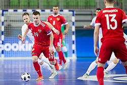 Ivan Chishkala of Russia during futsal match between Russia and Poland at Day 1 of UEFA Futsal EURO 2018, on January 30, 2018 in Arena Stozice, Ljubljana, Slovenia. Photo by Ziga Zupan / Sportida