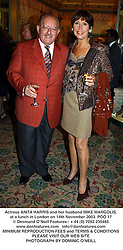 Actress ANITA HARRIS and her husband MIKE MARGOLIS, at a lunch in London on 14th November 2003.POO 17
