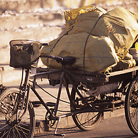 China, PRC, Beijing City scene, delivery bike