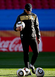 Assistant coach Nihad Pejkovic of Slovenia warm up during training session at Ellis Park on June 17, 2010 in Johannesburg, South Africa. Slovenia will play their next FIFA World Cup Group C match against USA at Ellis Park in on Friday June 18, 2010, in Johannesburg, South Africa. (Photo by Vid Ponikvar / Sportida)