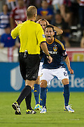 FRISCO, TX - AUGUST 11:  Marcelo Sarvas #8 of the Los Angeles Galaxy reacts to a call against FC Dallas on August 11, 2013 at FC Dallas Stadium in Frisco, Texas.  (Photo by Cooper Neill/Getty Images) *** Local Caption *** Marcelo Sarvas