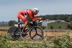 KNOTTEN Iver Johan from NORWAY during Men Under 23 Time Trial at 2019 UEC European Road Championships, Alkmaar, The Netherlands, 8 August 2019. <br /> <br /> Photo by Pim Nijland / PelotonPhotos.com <br /> <br /> All photos usage must carry mandatory copyright credit (Peloton Photos | Pim Nijland)