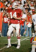 Turk Schonert, Nov 17, 1979, Stanford v Cal at Stanford Stadium in the 82nd Big Game.  Photo by David Madison www.davidmadison.com