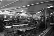 04/06/1964<br /> 06/04/1964<br /> 04 June 1964<br /> Sisk's new offices and premises at Naas Road, Clondalkin, Dublin. View of workshop.