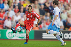 LIVERPOOL, ENGLAND - Wednesday, May 7, 2008: Liverpool's Nabil El Zhar in action against Aston Villa during the play-off final of the FA Premier League Reserve League at Anfield. (Photo by David Rawcliffe/Propaganda)