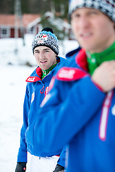 18.02.2015, Framby Udde Resort, Falun, SWE, FIS Weltmeisterschaften Ski Nordisch, Forotermin Nordische Kombination, im Bild Sepp Schneider (AUT) // during a Photocall of Austrian Nordic Combined Team before the FIS Nordic Ski World Championships 2015 at the Framby Udde Resort, Falun, Sweden on 2015/02/18. EXPA Pictures © 2015, PhotoCredit: EXPA/ JFK