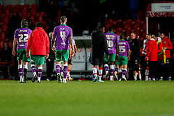 Aden Flint of Bristol City leaves the pitch after the match ends in a 1-1 draw meaning a Tuesday night replay next week - Photo mandatory by-line: Rogan Thomson/JMP - 07966 386802 - 03/01/2015 - SPORT - FOOTBALL - Doncaster, England - Keepmoat Stadium - Doncaster Rovers v Bristol City - FA Cup Third Round Proper.