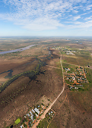 Aerial view of Fitzroy Crossing township