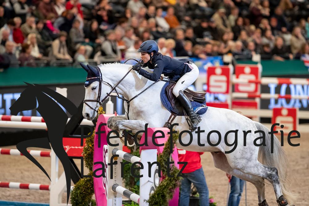 DIEDERICHSMEIER Mynou (GER), Carlucci 20<br /> Leipzig - Partner Pferd 2019<br /> IDEE Kaffe Preis<br /> CSI5*<br /> 18. Januar 2019<br /> © www.sportfotos-lafrentz.de/Stefan Lafrentz
