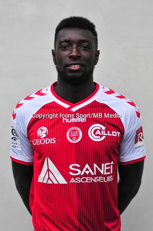 Grejohn Kyei - 21.10.2014 - Photo officielle Reims - Ligue 1 2014/2015<br /> Photo : Philippe Le Brech / Icon Sport