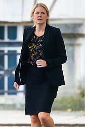 PC Debra Mackrell outside Inner London Crown Court where she is facing allegations of stalking ex-partner PC Paul Brewster between October 2016 and November 2017, when she is alleged to have made calls, sent texts and showed up at his work place making threats to ruin his career.. London, September 16 2019.