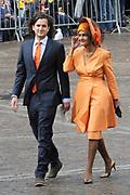 Aankomst van Kamerleden bij de Ridderzaal voor Prinsjesdag in Den Haag<br /> <br /> Op de foto : CDA-kamerlid Kathleen Ferrier (R)