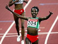 Kappgang, 11. august 2005, VM Helsinki, <br /> World Championships in Athletics<br /> winner 5000 metres: Tirunesh Dibaba, ETH