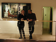 Kenneth Cranham and Robert Nwaka. The New Glasgow Boys.The Fleming Collection, 8 January 2003. © Copyright Photograph by Dafydd Jones 66 Stockwell Park Rd. London SW9 0DA Tel 020 7733 0108 www.dafjones.com