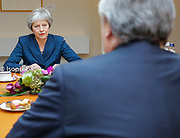 Antonio TAJANI, EP President meets with Theresa May, Prime Minister of United Kingdom to discuss on the latest developments in the negotiations on the British departure from the European Union.<br /> Meeting