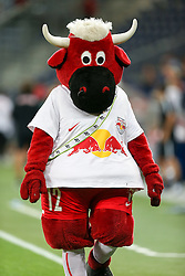 03.08.2016, Red Bull Arena, Salzburg, AUT, UEFA CL Qualifikation, FC Red Bull Salzburg vs FK Partizani Tirana, dritte Runde, Rückspiel, im Bild Red BUll Maskottchen //during UEFA Champions League Qualifier 2nd leg, 3rd round match between FC Red Bull Salzburg vs FK Partizani Tirana at the Red Bull Arena in Salzburg, Austria on 2016/08/03. EXPA Pictures © 2016, PhotoCredit: EXPA/ Roland Hackl