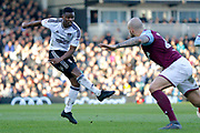 Fulham midfielder Floyd Ayite (11) has a shot on goal during the EFL Sky Bet Championship match between Fulham and Aston Villa at Craven Cottage, London, England on 17 February 2018. Picture by Andy Walter.