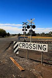 AUSTRALIA VICTORIA 11FEB08 - Railway crossing near Camperdown in the outbacks of Victoria, Australia...jre/Photo by Jiri Rezac..© Jiri Rezac 2008..Contact: +44 (0) 7050 110 417.Mobile:  +44 (0) 7801 337 683.Office:  +44 (0) 20 8968 9635..Email:   jiri@jirirezac.com.Web:    www.jirirezac.com..© All images Jiri Rezac 2007 - All rights reserved.
