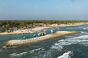 Fishing harbour on North coast of the Jaffna Peninsula.