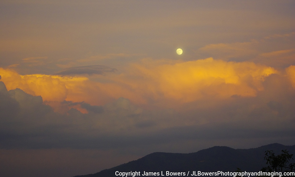 Sundown Full Moon - Smoky Mtns-NC
