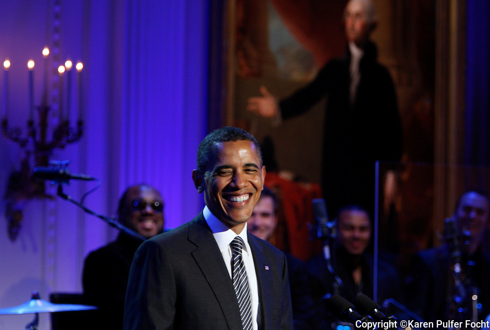 April 9, 2013 - Memphis musicians entertained President Obama, his family and invited guests at the White House on Tuesday night. He talked about the impact of Memphis music on our country and its timeless and classic sound; he also talked about his desire to sing like Al Green. Memphis artists and other musicians that were inspired by the Memphis sound took the stage, in a packed room. The performance will air on PBS next week.
