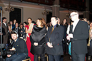 ZAHA HADID; JOOLS HOLLAND, Harpers Bazaar Women of the Year Awards. North Audley St. London. 1 November 2010. -DO NOT ARCHIVE-© Copyright Photograph by Dafydd Jones. 248 Clapham Rd. London SW9 0PZ. Tel 0207 820 0771. www.dafjones.com.
