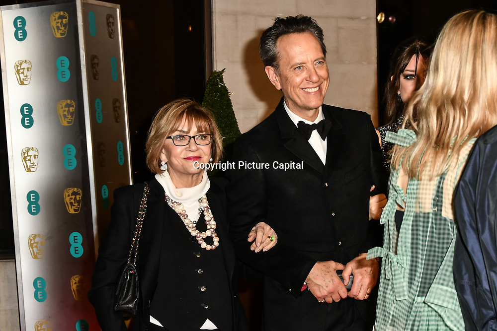 Richard E. Grant Arrivers at EE British Academy Film Awards in 2019 after-party dinner at Grosvenor house on 10 Feb 2019.