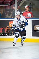 KELOWNA, CANADA - OCTOBER 4: Matthew Phillips #11 of the Victoria Royals warms up against the Kelowna Rockets on October 4, 2017 at Prospera Place in Kelowna, British Columbia, Canada.  (Photo by Marissa Baecker/Shoot the Breeze)  *** Local Caption ***