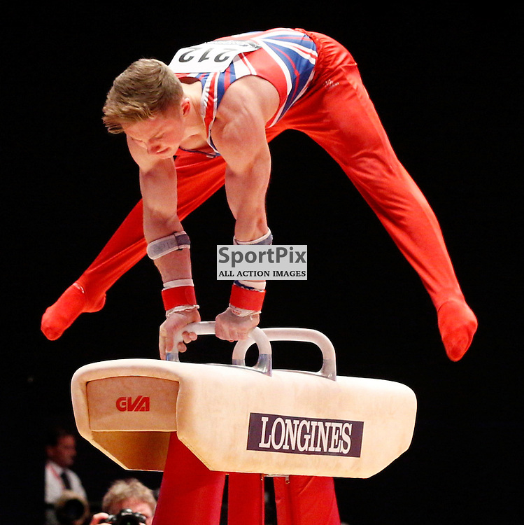 2015 Artistic Gymnastics World Championships being held in Glasgow from 23rd October to 1st November 2015.....Nile Wilson (Great Britain) competing in the Pommel Horse competition..(c) STEPHEN LAWSON | SportPix.org.uk