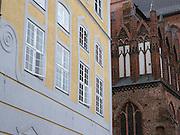 Fürstenhof, St. Georgen Kirche, Backsteingotik, Altstadt, Wismar, Mecklenburg-Vorpommern, Deutschland | Fürstenhof, St. George church, old town, Wismar, Mecklenburg-Vorpommern, Germany