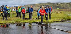 09-07-2014 ISL: Iceland Diabetes Challenge Dag 5, Emstrur<br /> Van Alftavatn naar Emstrur / Wim in 't Veld, Sandra Ciere-Koolhaas