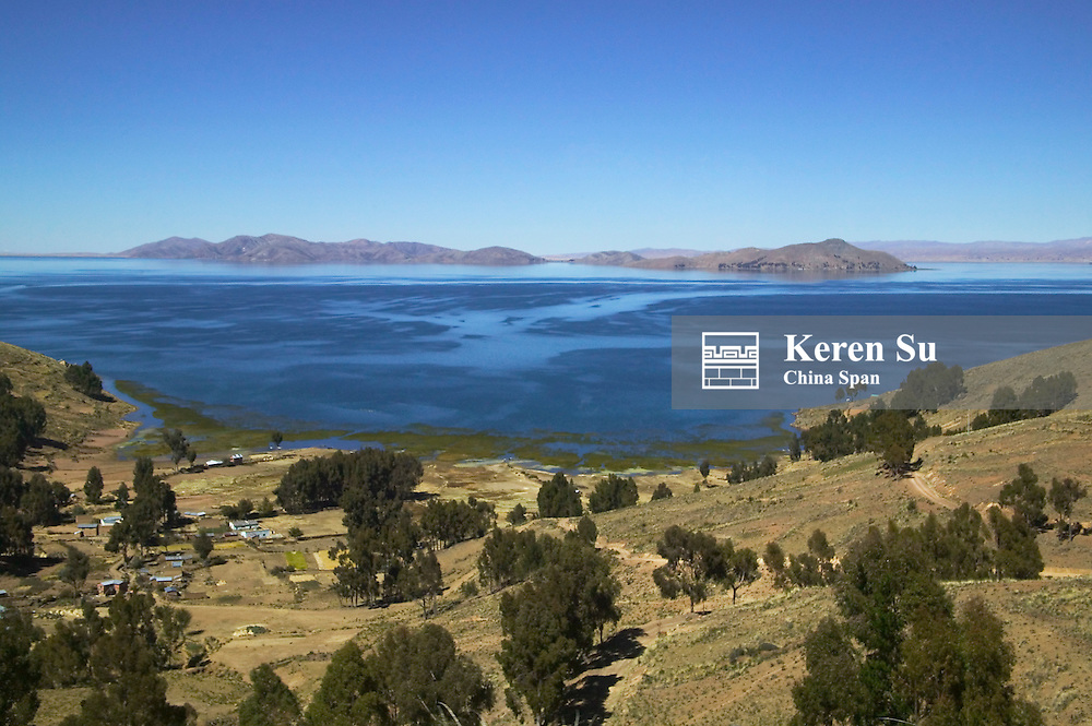 Landscape of Lake Titicaca, Bolivia
