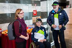 Jernej Slivnik during Press conference before departure on Paralympic Games in Pyeongchang, on February 28, 2018 in Triglav Zavarovalnica, Ljubljana, Slovenia. Photo by Ziga Zupan / Sportida