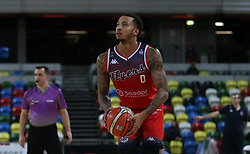 Gentry Thomas of Bristol Flyers prepares to shoot - Photo mandatory by-line: Arron Gent/JMP - 20/11/2019 - BASKETBALL - Copper Box Arena - London, England - London Lions v Bristol Flyers - British Basketball League Cup